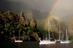 Marquises. Bay of Virgin, Marquesas Islands, South Pacific