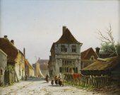 Adrianus Eversen, Wijdebrugsteeg in den Frachwage