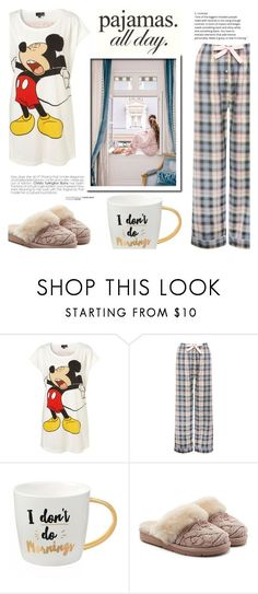 """""""PJs All Day: Lovely Loungewear"""" by katyusha-kis ❤ liked on Polyvore featuring M&Co, Slant, UGG, pajamas, homewear, PJsAllDay and LovelyLoungewear #Homewear"""