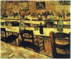 Vincent van Gogh, Interior of a Restaurant in Arles Painting, Oil on Canvas Arles: August, 1888