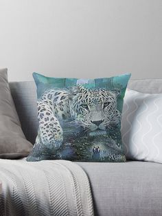 'Leopard Abstract' Throw Pillow by Galen Valle Mixed Media Artists, Throw Pillows, Magazine, Abstract, Prints, Stuff To Buy, Summary, Toss Pillows, Cushions