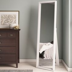 in bedroom ideas full length Wrought Studio Middlewich Modern & Contemporary Full Length Mirror Stand Up Mirror, Round Wall Mirror, Tall Mirror, Ikea Mirror, Sunburst Mirror, White Full Length Mirrors, White Mirror, Full Length Mirror With Stand, Ikea Bedroom