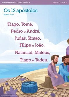What are the names of the 12 apostles? Read Matthew Then use this Bible lesson to help your child memorize their names. Virtual Games For Kids, Bibel Journal, Bible Lessons For Kids, Bible Activities, Bible Knowledge, Bible Teachings, Religious Education, Bible Truth, My Bible