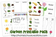 pirate theme education pinterest | Garden Printable Pack for preschool and kindergarten {this is a HUGE ...