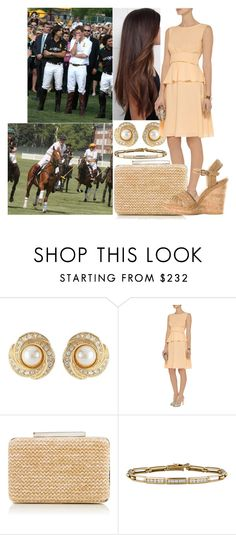 """Watching her brother Harry play at the 2nd Annual Veuve Clicquot Manhattan Polo Classic in Governors Island"" by marywindsor ❤ liked on Polyvore featuring Susan Caplan Vintage, Moschino, L.K.Bennett, Tiffany & Co., Stuart Weitzman, women's clothing, women, female, woman and misses"