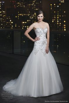 justin alexander signature 2014 wedding dress style 9726 beaded sweetheart neckline embroidered lace flowers