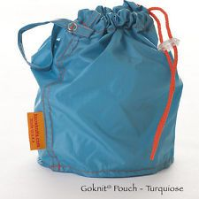 KnowKnits GoKnit Pouch Yarn Tote Bag in Hot Turquoise