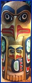 Hills Native Art Totems This Canadian art store sells First Nations totem poles of many styles, and can also arrange commisions of custom-made tall poles.