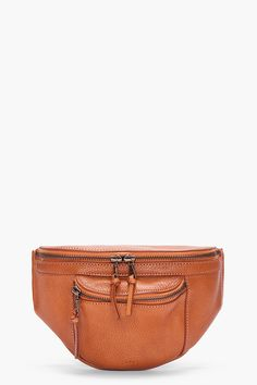 A.P.C. Tan Pebbled Leather Waist Bag