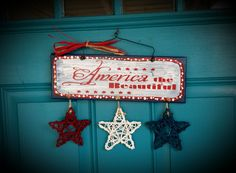 America Star Door hanger hand painted by gonepostal09 on Etsy