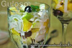 #Bomdia! Amo salada de fruta no café da manhã e você? A sugestão é esta deliciosa e nutritiva Salada de Frutas com Iogurte!  #Receita aqui: http://wp.me/p1D7Fs-3Gl