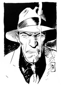 Torpedo 1936 by Jordi Bernet Mafia, Jordi Bernet, Ink Pen Drawings, Pulp Art, Drawing Challenge, Comic Artist, Comic Books Art, Ink Art, Pencil Art