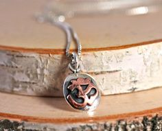 Tiny Om Necklace Delicate Sterling Silver Necklace Yoga Jewelry Amy Fine Design