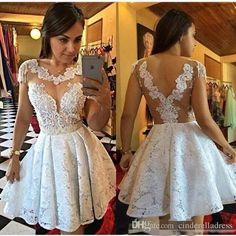 Sexy Short Prom Dress,white Homecoming Party Dress Girls