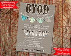 BYOD Baby Shower / Beer and Diaper Baby by ItsyBitsyInvitations, $10.50