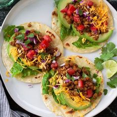 Vegetarian Lentil Tacos (Slow Cooker) - Cooking Classy - My Recipe Magic Lentil Recipes, Healthy Chicken Recipes, Salmon Recipes, Mexican Food Recipes, Soup Recipes, Vegetarian Recipes, Recipes Dinner, Tasty Tacos Recipe, Taco Recipe