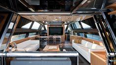 Main Deck #Design Riva #Yacht - 86' Domino on display at the #MiamiBoatShow 2015, 12-16 Feb 2015. #luxury #riva #MadeInItaly #Mybs2015