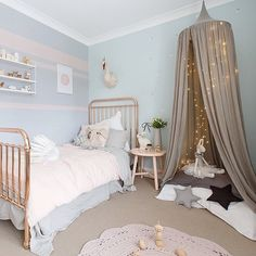 love the wall colors. perfect for my girl's room.