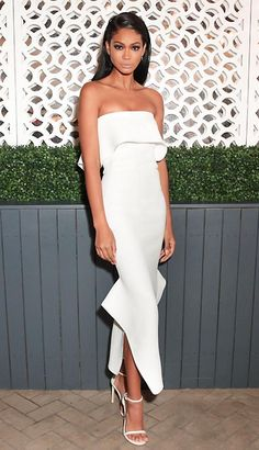 "creccord1: "" Chanel Iman at the Vogue x Stuart Weitzman Dinner 