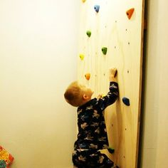 Make This:  Kid's Rock Climbing Wall     The Crafting Chicks