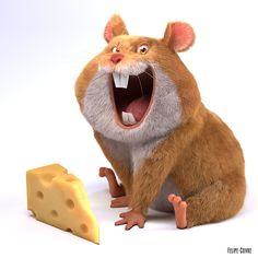 The Hamster, Felipe Covre on ArtStation at https://www.artstation.com/artwork/gQP0Z