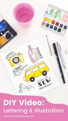 DIY Video: Lettering & Illustration 'New Adventures' via Luloveshandmade.com  #luloveshandmade #handlettering #illustration #design #tutorial #letteringtutorial #videotutorial #videodiy #illustrationtutorial #adventure #wanderlust #camera #campervan #camping #mountains Galaxy Theme, Galaxy Art, Diy Videos, Conceptual Framework, Bullet Journal Ideas Pages, Lettering Tutorial, Illustrator Tutorials, New Adventures, Painting & Drawing