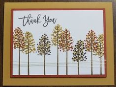 Stampin' on the Prairie: Autumn Trees Thank You Card, Thoughtful Branches stamp set, Stampin' Up!