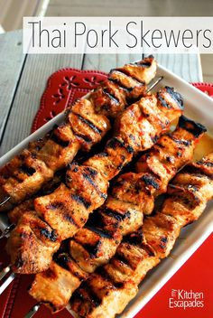 Thai Pork Skewers :  most amazing marinade you can use on your favorite meat!