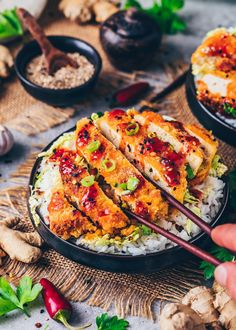 Tofu Katsu Recipe (Japanese Vegan Steak) - Bianca Zapatka | Recipes Katsu Recipes, Schnitzel Recipes, Tofu Recipes, Spicy Recipes, Asian Recipes, Vegetarian Recipes, Breaded Tofu, Tofu Steak, Tonkatsu Sauce