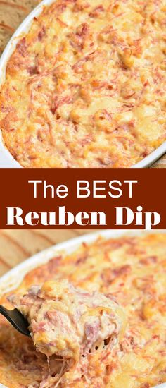 This is an amazing dip made with all the great tastes of a classic Reuben Sandwich. It makes a great appetizer recipe for game day or any party!