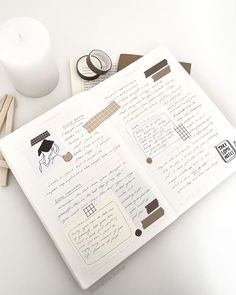 Bullet Journal Ideas Pages, My Journal, Bullet Journal Inspiration, Bullet Journals, Scrapbook Journal, Notebook Ideas, Notes, Lettering, Organization Ideas