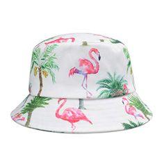 Pink Flamingos, Palm Trees, Bucket Hat, Digital Prints, Amazon, Hats, Palm Plants, Fingerprints, Bob