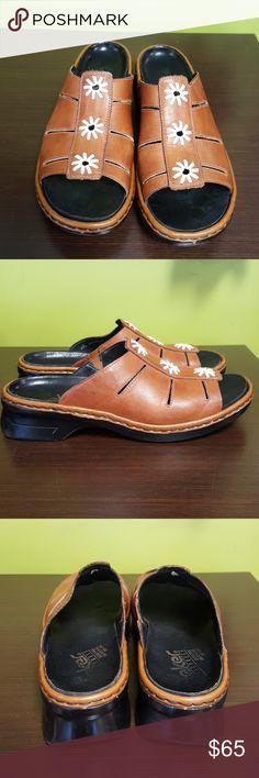 RIEKER SANDALS Carmel brown leather GUC!  Size 40 Rieker Shoes Sandals