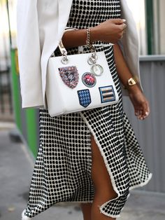 The Street Style Accessories That Stopped Traffic at Fashion Week ---  A few patches you can't miss.