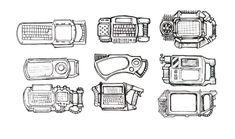 Cyberdecks 01 by Beketov on DeviantArt Cyberpunk Games, Cyberpunk Rpg, Character Concept, Concept Art, Pip Boy, Steampunk Theme, Arte Robot, Star Wars Episode Iv, Concept Weapons