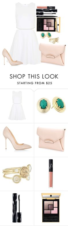 """""""Untitled #1205"""" by fabianarveloc on Polyvore featuring Topshop, Kendra Scott, Sergio Rossi, Givenchy, Ted Baker, NARS Cosmetics, Shiseido and Bobbi Brown Cosmetics"""