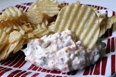 Crack Dip: sour cream, ranch dressing, bacon bits, cheddar cheese - let sit to meld flavors