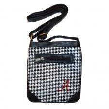 Ticket Bag - University of Alabama $34.99 Tartan and leather adjustable strap purse. Wear it cross body and on gameday or any day. Fits a phone and wallet and other small items. This Product Makes a Great Holiday Gift for any University of Alabama fan!