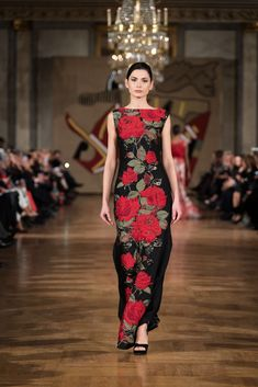 My Red Rose dress @altamoda Roma World of Fashion . Addy van den Krommenacker Collection Couture 2018