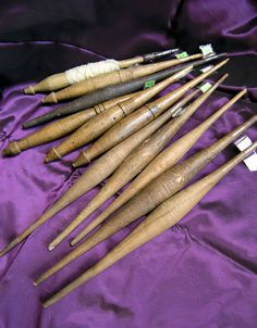 Antique French handspindles