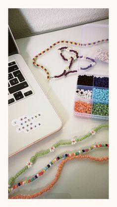 Seed Bead Jewelry, Cute Jewelry, Diy Jewelry, Beaded Jewelry, Jewelery, Handmade Jewelry, Jewelry Making, Beaded Bracelets, Beaded Choker Necklace