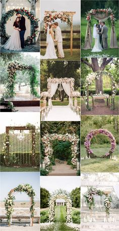 Great Pictures Top 20 Floral Wedding Arch Canopy Ideas # canopy bow Concepts Buy wedding decor produced easy Once you manage a wedding , you have to pay attention to the Budget Floral Wedding, Wedding Colors, Rustic Wedding, Wedding Flowers, Fall Wedding, Wedding Dresses, Wedding Lanterns, Outdoor Wedding Decorations, Vintage Outdoor Weddings