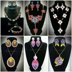 Quilled Jewelry Sets                                                                                                                                                     Plus
