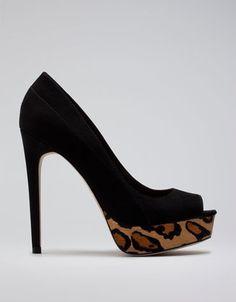 Bershka Italy - Bershka leopard print peep toes