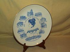 Ladysmith Wisconsin Plate First Edition Buntingware 100th Anniversary 1885 1985