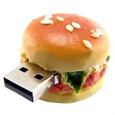 Stick USB capacidade real criativo hamburger usb flash drive presente criativo 2 gb 4 gb 8 gb 16 gb 32 gb de memória U disco USB creativo S326