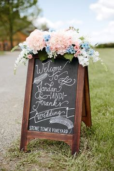 chalkboard wedding sign #wedding #weddingideas #weddingdecor #weddingsign