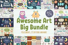 88% OFF! Awesome Graphic Bundle - Illustrations