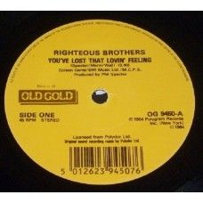 """7"""" 45RPM You've Lost That Lovin' Feeling/Unchained Melody by The Righteous Brothers from Old Gold"""