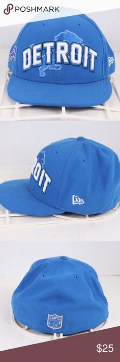New Era Detroit Lions Spell Out 7 3 4 Fitted Hat New Era 59 Fifty 39d965fad0a